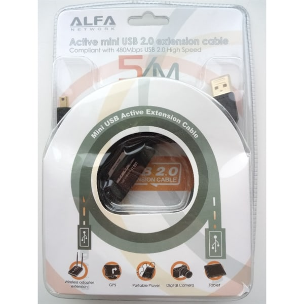 Powerful Alfa AUSBC-5M,  5 Meter high quality  Micro USB Cable